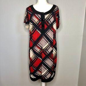 Cato Woman Plaid Stretch Sheath Dress